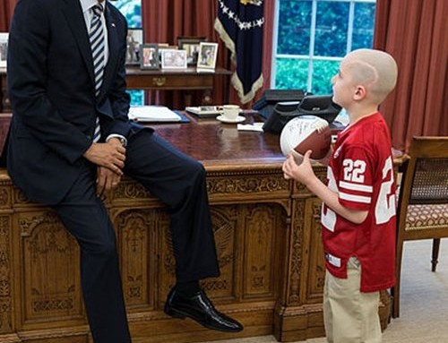 Brain tumor continues for young football fan Jack Hoffman
